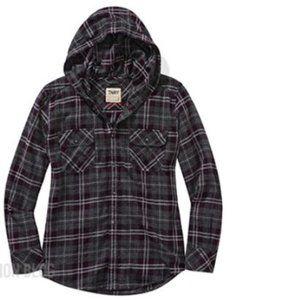 TNA plaid flannel hoody